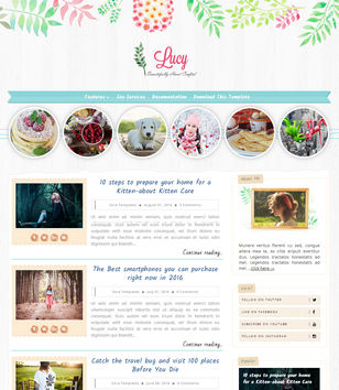 Lucy Beauty Blogger Templates