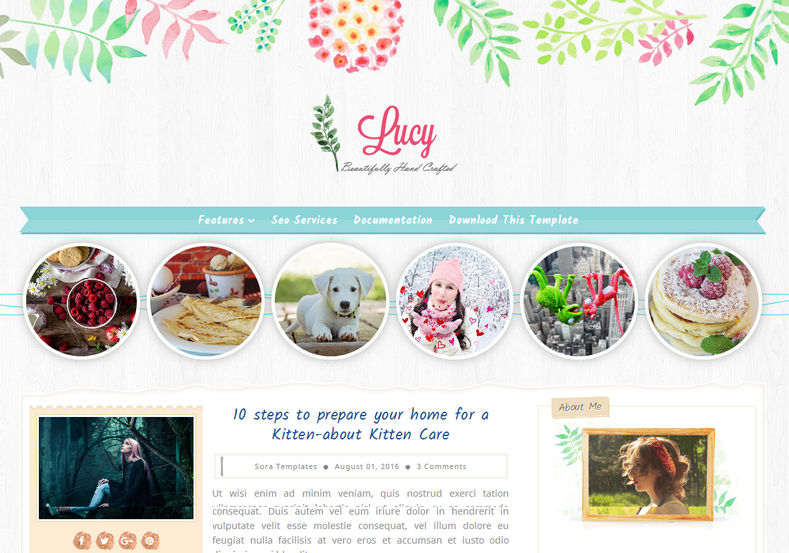 Lucy Beauty Blogger Template is perfect girly fashion blogger theme for those who is interested in making simple elegant clean website with best seo friendly features