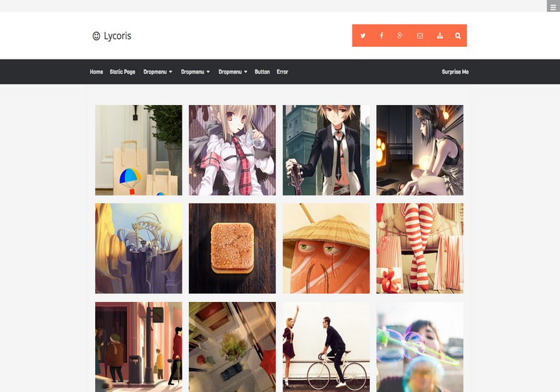 Lycoris Responsive Photography Blogger Template Free - Blogger photography templates professional