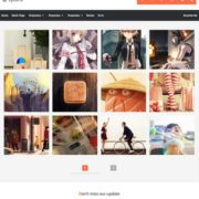 Lycoris Responsive Photography Blogger Templates