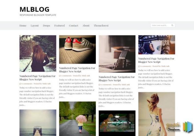 MLBLOG Blogger Template. 2015 MLBLOG Blogger Template premium blogger template