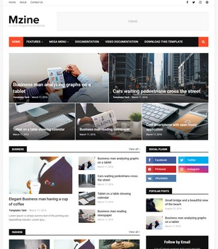 MZine Blogger Templates