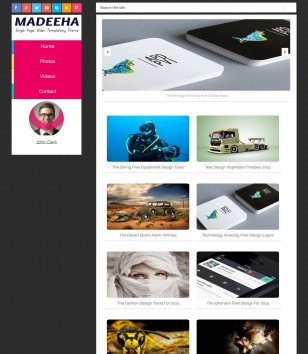Madeeha onepage slide blogger template blogspot for Free blogger templates with slider