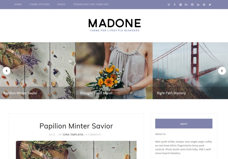 Madone Blogger Template