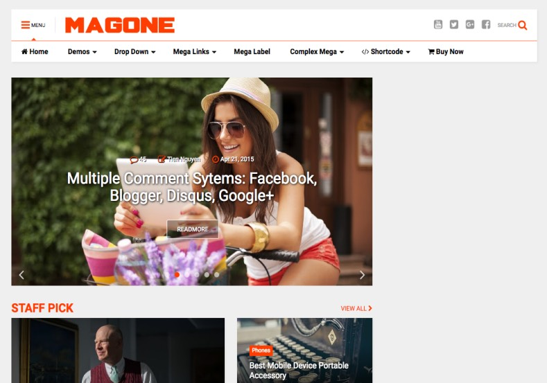 MagOne Blogger Template. Blogger Themes. Free Blogspot templates for your blogger blog. Best suitable for news blog templates. Best Ads ready blogspot templates help for add adsense ad code and easily showing adsence ads in your blog. Adapted from WordPress templates are converted from WordPress themes. It is help for take your rich. Blogger magazine template specially designed for magazine blogs. The writers can utilize this themes for take blog attractive to users. Elegant themes are more used themes in most of the blogs. Use minimalist blog templates for rich look for your blog. Free premium blogger themes means, themes authors release two types of themes. One is premium another one is free. Premium templates given for cost but free themes given for no cost. You no need pay From California, USA. $10 USD, or $20 USD and more. But premium buyers get more facilities from authors But free buyers. If you run game or other animation oriented blogs, and you can try with Anime blog templates. Today the world is fashion world. So girls involve to the criteria for make their life fashionable. So we provide fashion blogger themes for make your fashionable. News is most important concept of the world. Download news blogger templates for publishing online news. You can make your blog as online shopping store. Get Online shopping store blogger template to sell your product. Navigation is most important to users find correct place. Download drop down menu, page navigation menu, breadcrumb navigation menu and vertical dropdown menu blogspot themes for free. Google Guide to blogging tips and tricks for bloggers. Google bloggers can get blogspot trick and tips for bloggers. Blog templates portfolio professional blogspot themes, You can store your life moments with your blogs with personal pages templates. Video and movie blogs owners get amazing movie blog themes for their blogs. Business templates download. We publish blogger themes for photographers. Photographers easily share photos via photography blog themes. St valentine Christmas Halloween templates. Download Slideshow slider templates for free. Under construction coming soon custom blogspot template. Best beautiful high quality Custom layouts Blog templates from templateism, SoraTemplates, templatetrackers, simple, cute free premium professional unique designs blog themes blogspot themes. Seo ready portfolio anime fashion movie movies health custom layouts best download blogspot themes simple cute free premium professional unique designs xml html code html5.