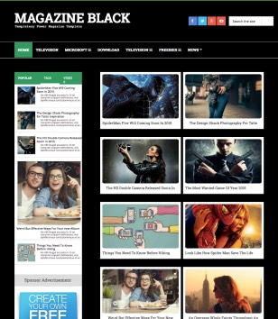 Magazine Dark Blogger Templates