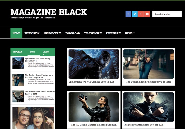 Magazine Dark Blogger Template. Blogger Themes. Free Blogspot templates for your blogger blog. Best suitable for news blog templates. Ads ready blogspot templates help for add adsense ad code and easily showing adsence ads in your blog. Adapted from WordPress templates are converted from WordPress themes. It is help for take your rich. Blogger magazine template specially designed for magazine blogs. The writers can utilize this themes for take blog attractive to users. Elegant themes are more used themes in most of the blogs. Use minimalist blog templates for rich look for your blog. Free premium blogger themes means, themes authors release two types of themes. One is premium another one is free. Premium templates given for cost but free themes given for no cost. You no need pay From California, USA. $10 USD, or $20 USD and more. But premium buyers get more facilities from authors But free buyers. If you run game or other animation oriented blogs, and you can try with Anime blog templates. Today the world is fashion world. So girls involve to the criteria for make their life fashionable. So we provide fashion blogger themes for make your fashionable. News is most important concept of the world. Download news blogger templates for publishing online news. You can make your blog as online shopping store. Get Online shopping store blogger template to sell your product. Navigation is most important to users find correct place. Download drop down menu, page navigation menu, breadcrumb navigation menu and vertical dropdown menu blogspot themes for free. Google Guide to blogging tips and tricks for bloggers. Google bloggers can get blogspot trick and tips for bloggers. Blog templates portfolio professional blogspot themes, You can store your life moments with your blogs with personal pages templates. Video and movie blogs owners get amazing movie blog themes for their blogs. Business templates download. We publish blogger themes for photographers. Photographers easily share photos via photography blog themes. St valentine Christmas Halloween templates. Download Slideshow slider templates for free. Under construction coming soon custom blogspot template. Best beautiful high quality Custom layouts Blog templates from templateism, SoraTemplates, templatetrackers, simple, cute free premium professional unique designs blog themes blogspot themes. Seo ready portfolio anime fashion movie movies health custom layouts best download blogspot themes simple cute free premium professional unique designs xml html code html5.