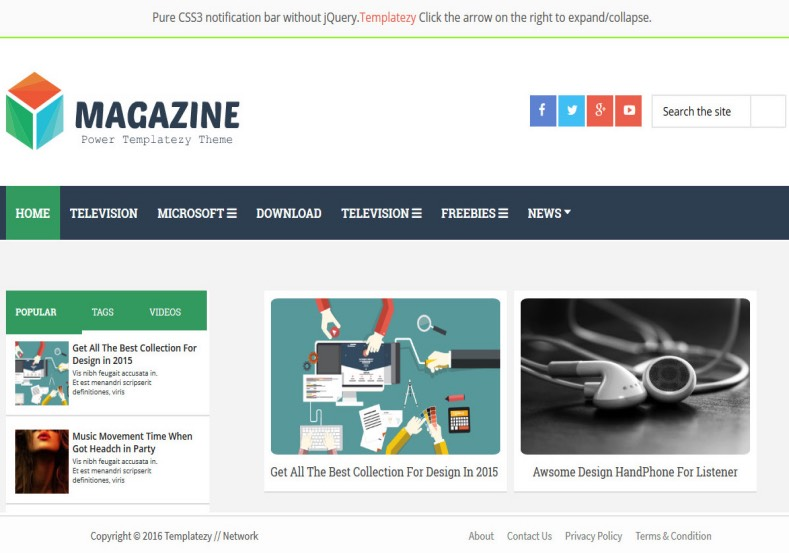 Magazine Light Blogger Template. Blogger Themes. Free Blogspot templates for your blogger blog. Best suitable for news blog templates. Ads ready blogspot templates help for add adsense ad code and easily showing adsence ads in your blog. Adapted from WordPress templates are converted from WordPress themes. It is help for take your rich. Blogger magazine template specially designed for magazine blogs. The writers can utilize this themes for take blog attractive to users. Elegant themes are more used themes in most of the blogs. Use minimalist blog templates for rich look for your blog. Free premium blogger themes means, themes authors release two types of themes. One is premium another one is free. Premium templates given for cost but free themes given for no cost. You no need pay From California, USA. $10 USD, or $20 USD and more. But premium buyers get more facilities from authors But free buyers. If you run game or other animation oriented blogs, and you can try with Anime blog templates. Today the world is fashion world. So girls involve to the criteria for make their life fashionable. So we provide fashion blogger themes for make your fashionable. News is most important concept of the world. Download news blogger templates for publishing online news. You can make your blog as online shopping store. Get Online shopping store blogger template to sell your product. Navigation is most important to users find correct place. Download drop down menu, page navigation menu, breadcrumb navigation menu and vertical dropdown menu blogspot themes for free. Google Guide to blogging tips and tricks for bloggers. Google bloggers can get blogspot trick and tips for bloggers. Blog templates portfolio professional blogspot themes, You can store your life moments with your blogs with personal pages templates. Video and movie blogs owners get amazing movie blog themes for their blogs. Business templates download. We publish blogger themes for photographers. Photographers easily share photos via photography blog themes. St valentine Christmas Halloween templates. Download Slideshow slider templates for free. Under construction coming soon custom blogspot template. Best beautiful high quality Custom layouts Blog templates from templateism, SoraTemplates, templatetrackers, simple, cute free premium professional unique designs blog themes blogspot themes. Seo ready portfolio anime fashion movie movies health custom layouts best download blogspot themes simple cute free premium professional unique designs xml html code html5.