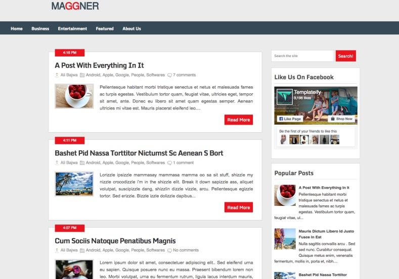 Maggner Blogger Template premium blogger template
