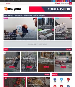 Magma News Responsive Blogger Templates