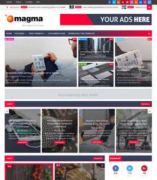 News blogger templates 2018 free download magma news responsive pronofoot35fo Images