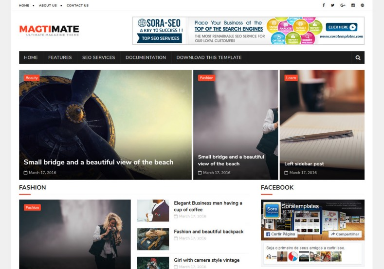 MagtiMate Blogger Template. Best magazine blogger template for blogger blogspot users. You can build magazine blogger blog with this MagtiMate Blogger Template.
