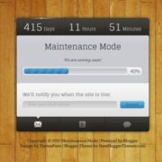 Maintenance Mode Blogger Templates