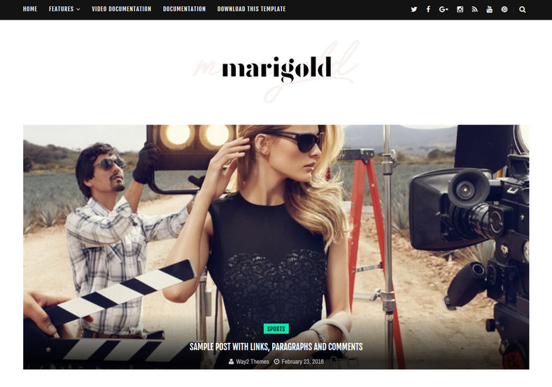 Marigold Blogger Template is a simple fashion responsve fast loading blogger themes specially for female and fashion lover bloggers