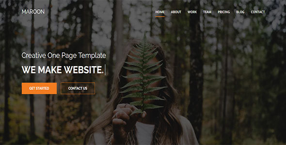 Maroon One Page Multi Purpose HTML5 Template