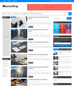 Master Blog Blogger Template • Blogspot Templates 2018