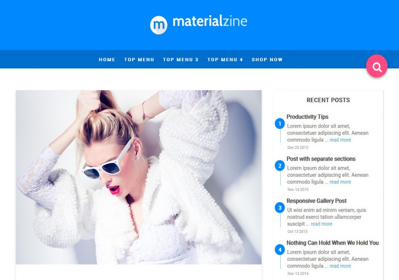Material Blogger Template. Blue color blogspot theme created by yo templates. This template has material design. Beautiful and nice looking template. Material Blogger Template.