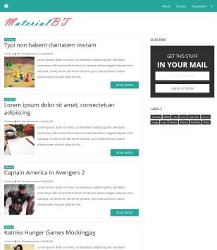Material Design Blogger Templates