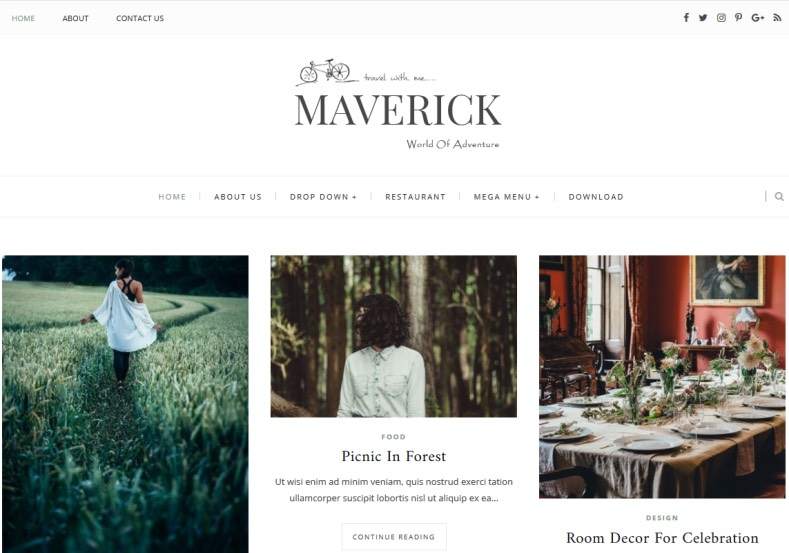 Maverick Blogger Template 2018 best quality blogger themes for renovating blogger and Blogspot blogs. Download and redesign your blogger blog. Maverick Blogger Template.