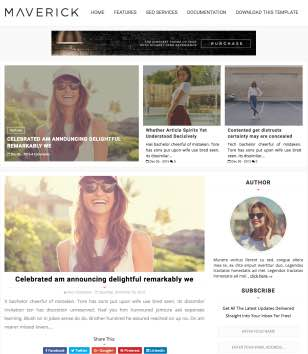 Maverick Clean Blogger Templates