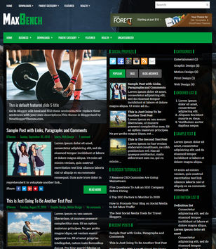 MaxBench Blogger Templates