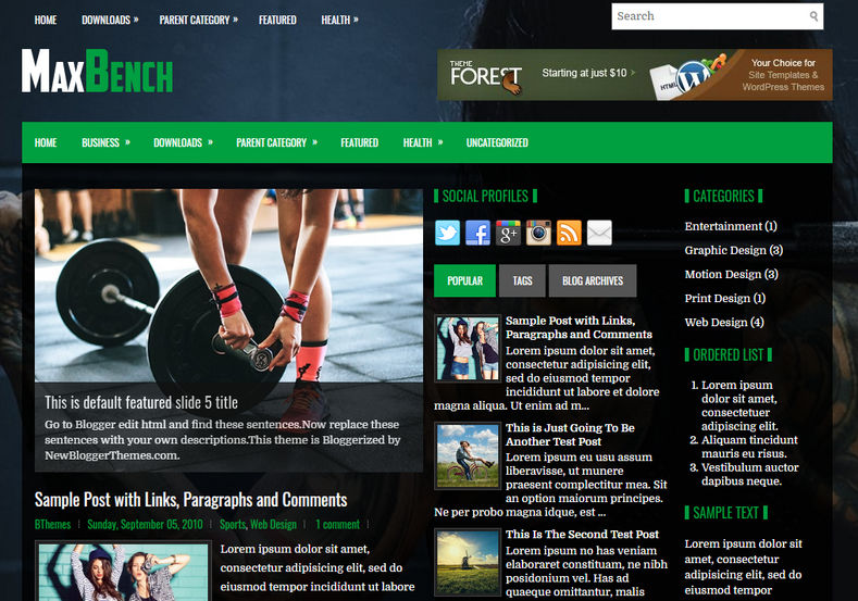 MaxBench Blogger Template is an amazingly designed news magazine 3 column free blogspot theme