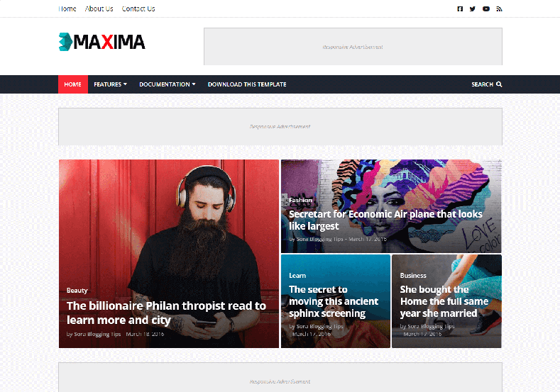 Maxima Blogger Template is a futuristic and attractive looking blogspot theme with nicely designed layout and fast loading speed.