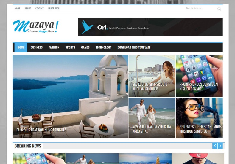Mazaya Blogger Template is a Complete Blogspot theme for a news or magazine site with the focus of attracting organic search engine visitors on their site.