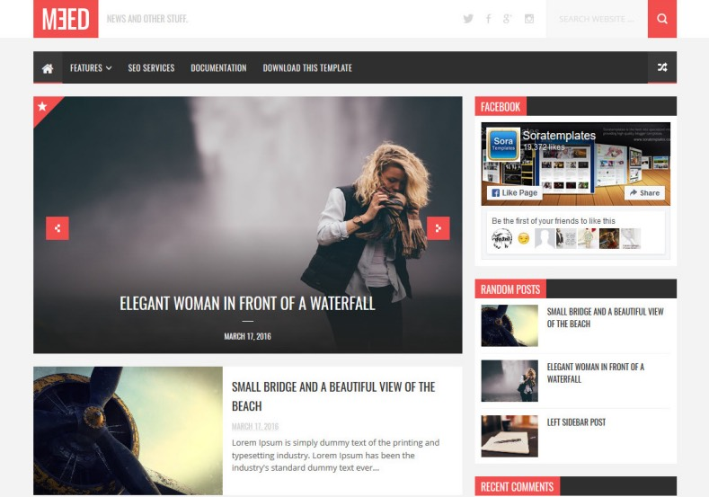 Meed Blogger Template. Best place for download magazine blogger template. Most beautiful magazine templates. Magazine blogger themes from soratemplates. Meed Blogger Template.