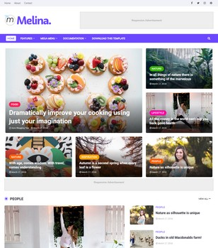 Melina Blogger Templates
