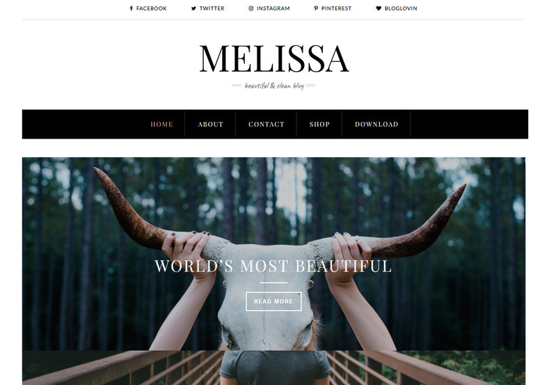 Melissa Blogger Template is a beauty theme with clean and simple look, specially made for fashion bloggers