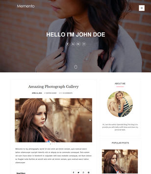 Memento Creative Blogger Templates