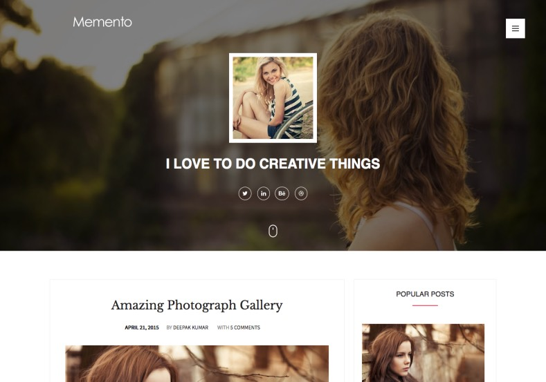 Memento Responsive Blogger Template. 2015 Free Themes