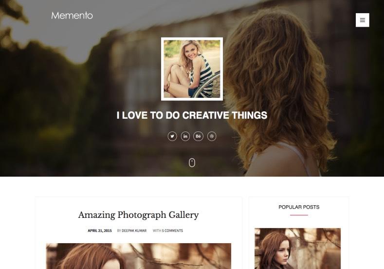 Memento Responsive Blogger Template. 2015 Free Themes
