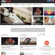 Meton Responsive Seo Blogger Templates