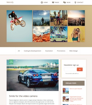 Metrofy Blogger Templates