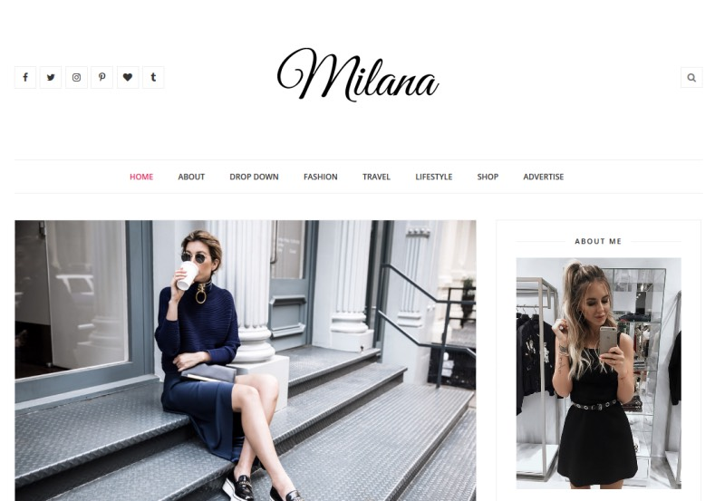 Milana Blogger Template. Best minimalist free blogger templates 2017 with best quality template create by clean coded and well performed blog loading speed design. Milana Blogger Template.