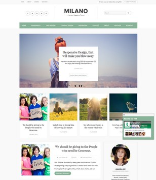 Milano Blogger Templates