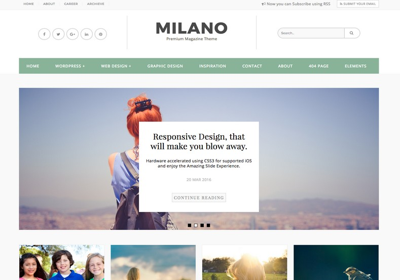 Milano Blogger Template. Portfolio and business template for blogger blog. Built portfolio blog with Milano Blogger Template.