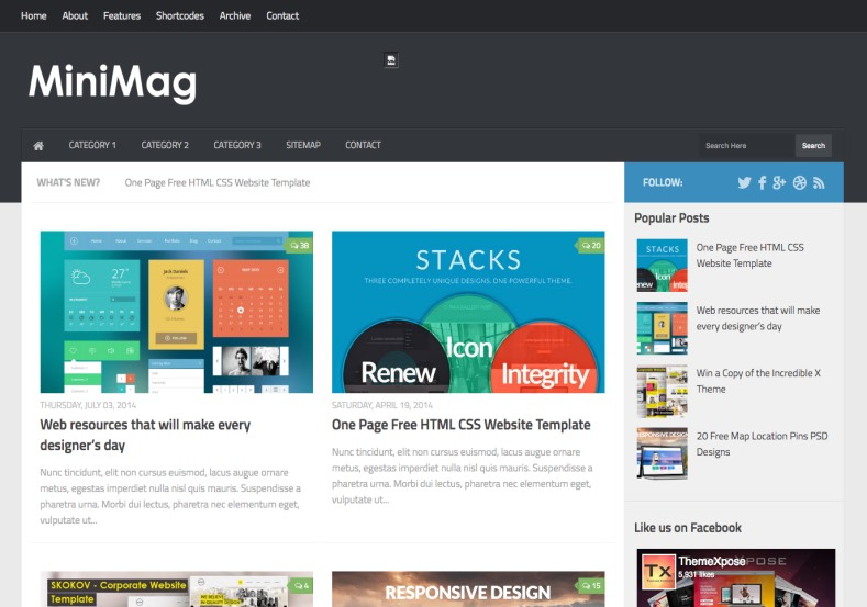 mini mag mega menu blogger template blogspot templates 2018