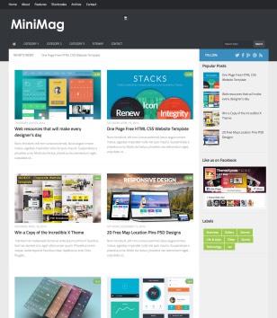 Mini Mag Blogger Templates