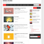 Minima Colored 3 Blogger Templates