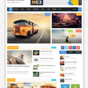 Minima Colored 3 Mag Blogger Templates