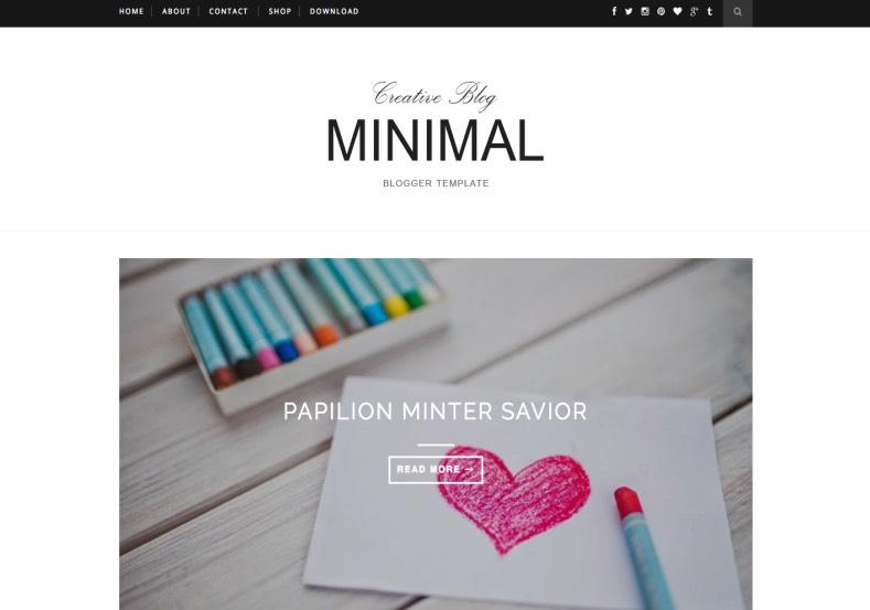 minimal slider blogger template blogspot templates 2018