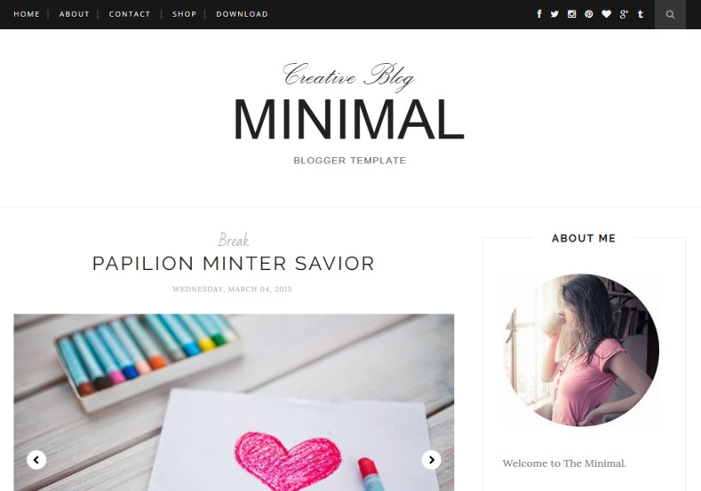 Minimal Clean Blogger Template. Blogger Themes. Free Blogspot templates for your blogger blog. Best suitable for news blog