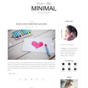 Minimal Clean Responsive Blogger Templates