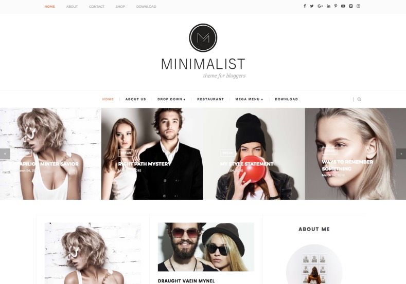 Minimalist Carousel Blogger Template. Two types of layout comes with this template you have this one named Minimalist Carousel Blogger Template. Best choice for fashion and girls blogs.