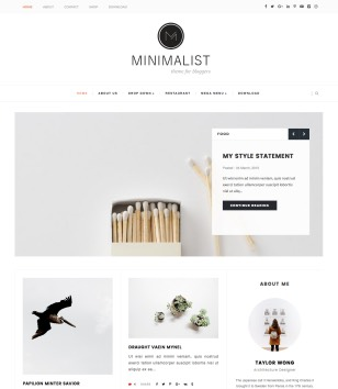 Minimalist Clean Blogger Templates