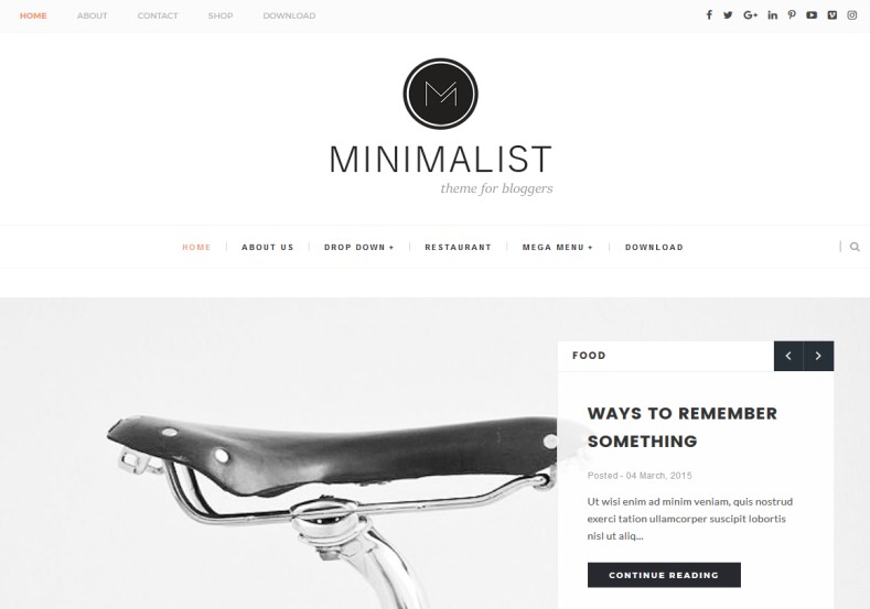 Minimalist Clean Blogger Template is another one of the version of this template. This template specially focused for slider and giving best look for blogger blog. Nice looking and high quality template for blogger named Minimalist Clean Blogger Template.