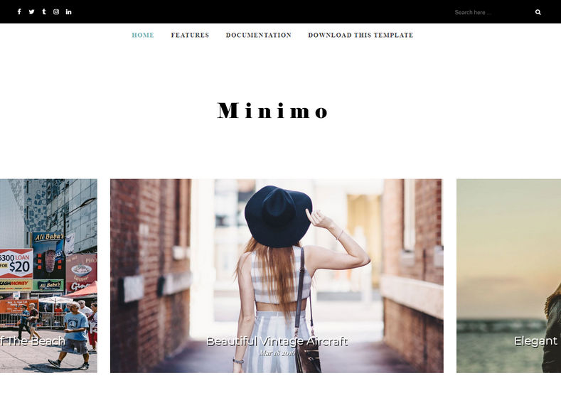 Minimo Free Blogger Template